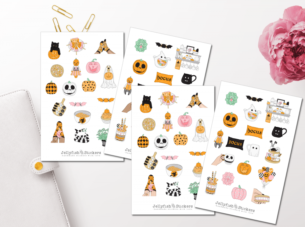 Girls Halloween Sticker Set